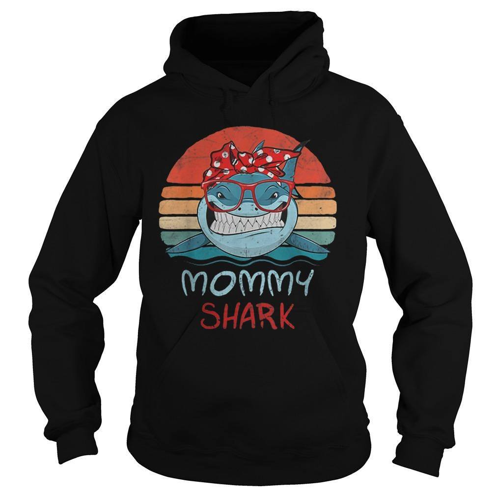 Vintage Mommy Sharks Glasses Hoodie