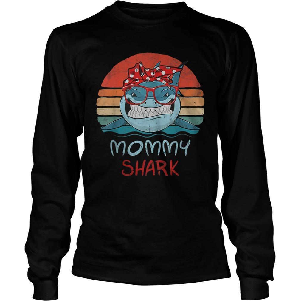 Vintage Mommy Sharks Glasses Longsleeve