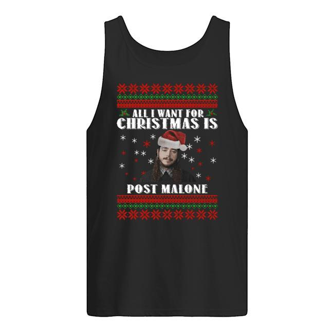 All I Want For Christmas Post Malone Christmas Tank Top