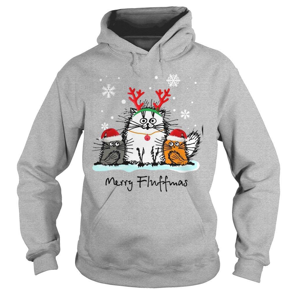 Christmas Cat Merry Fluffmas Hoodie