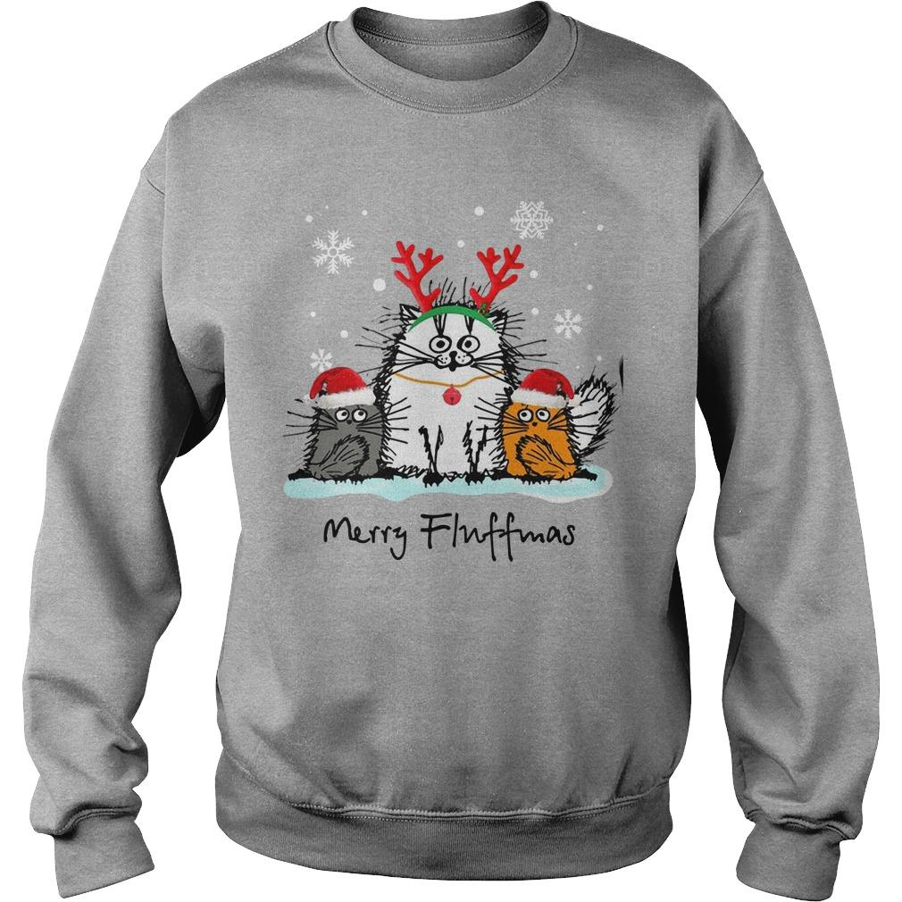 Christmas Cat Merry Fluffmas Sweater