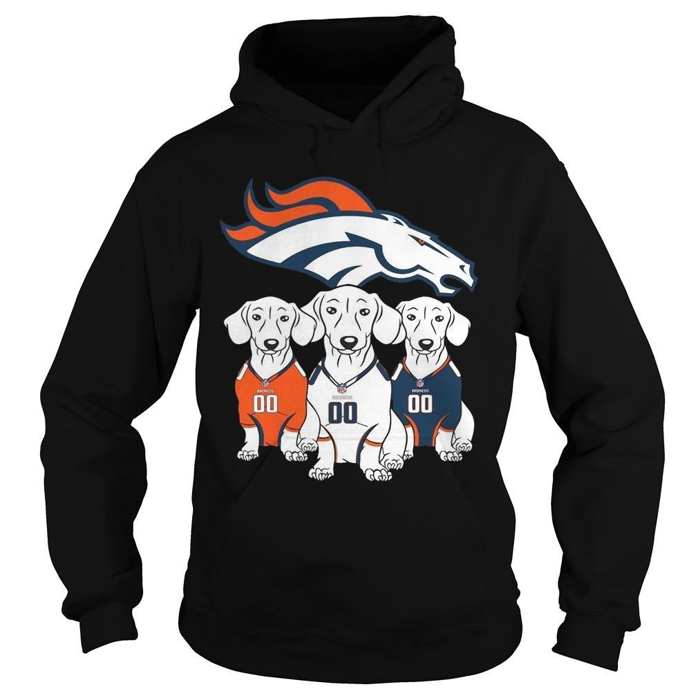 Dachshund Denver Broncos T Hoodie