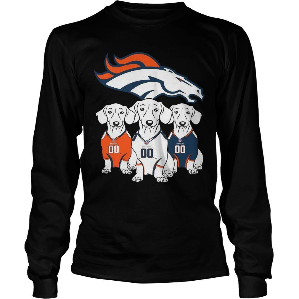 Dachshund Denver Broncos T Longsleeve