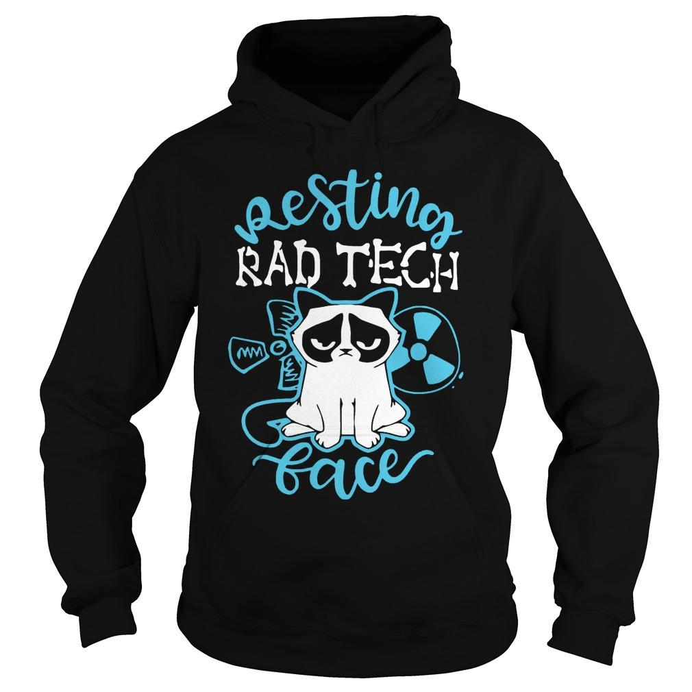 Grumpy Cat Resting Rad Tech Face The Kop Father Hoodie