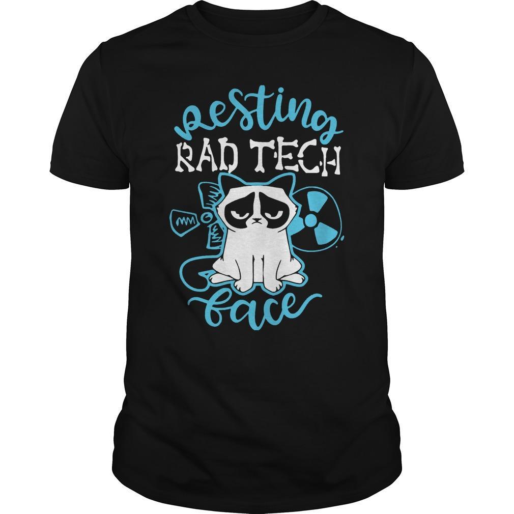 Grumpy Cat Resting Rad Tech Face Shirt The Kop Father Shirt