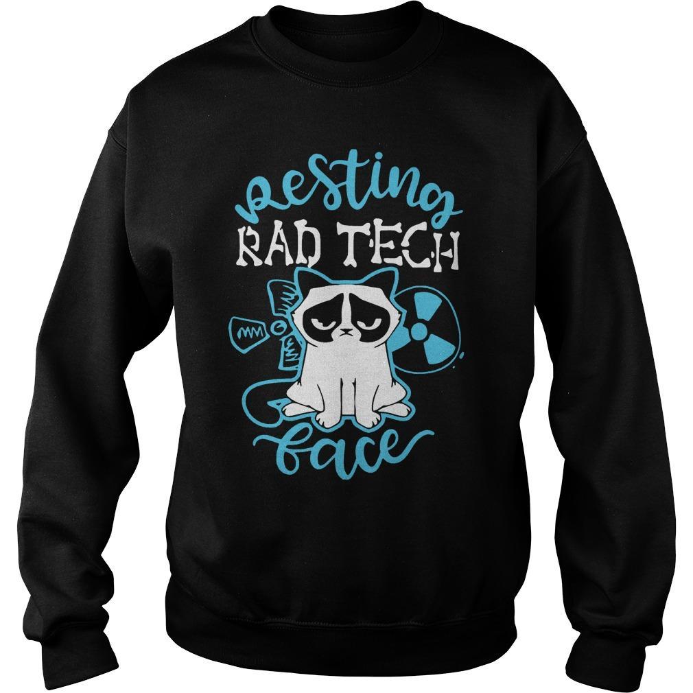 Grumpy Cat Resting Rad Tech Face The Kop Father Sweater