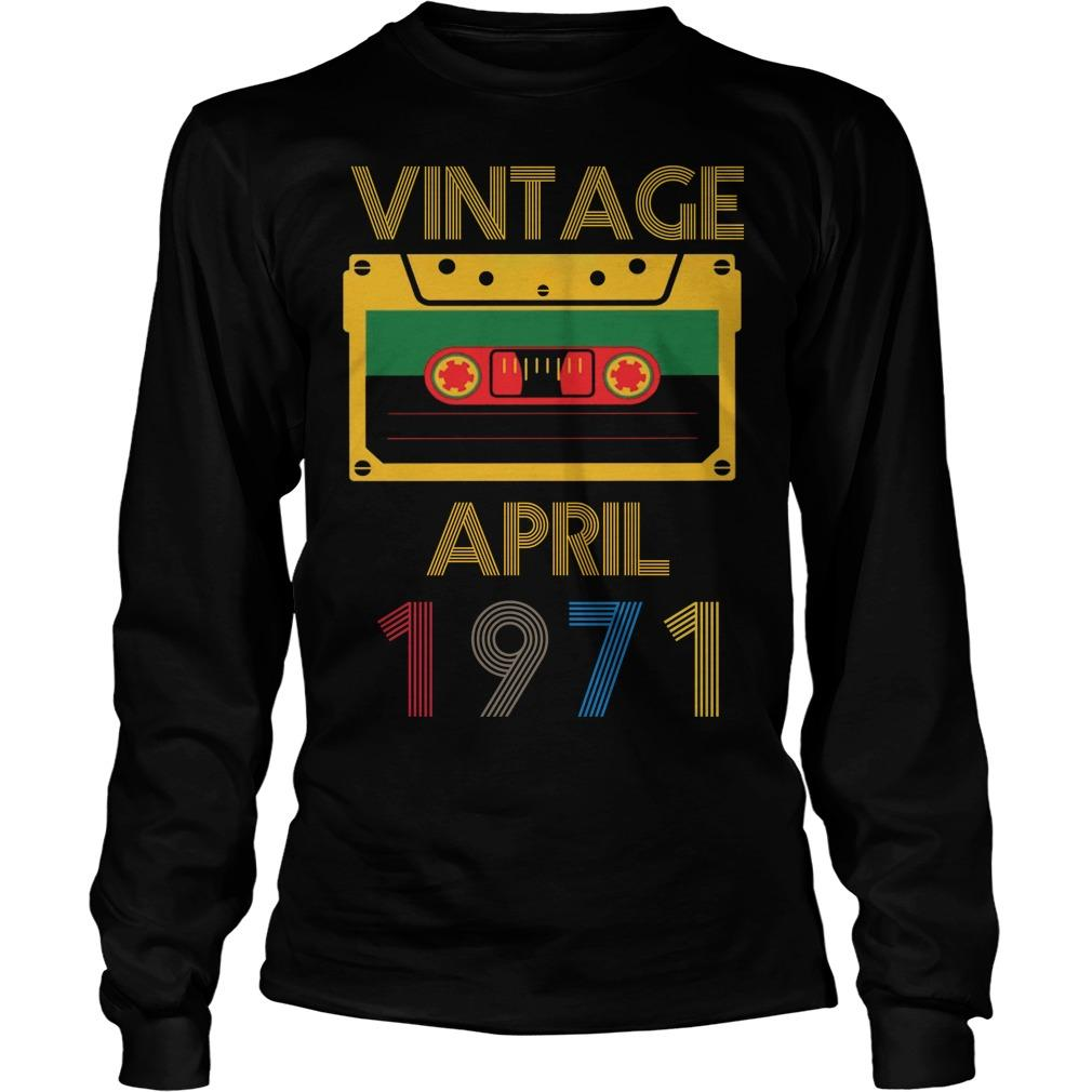 Video Tape Vintage April 1971 Longsleeve