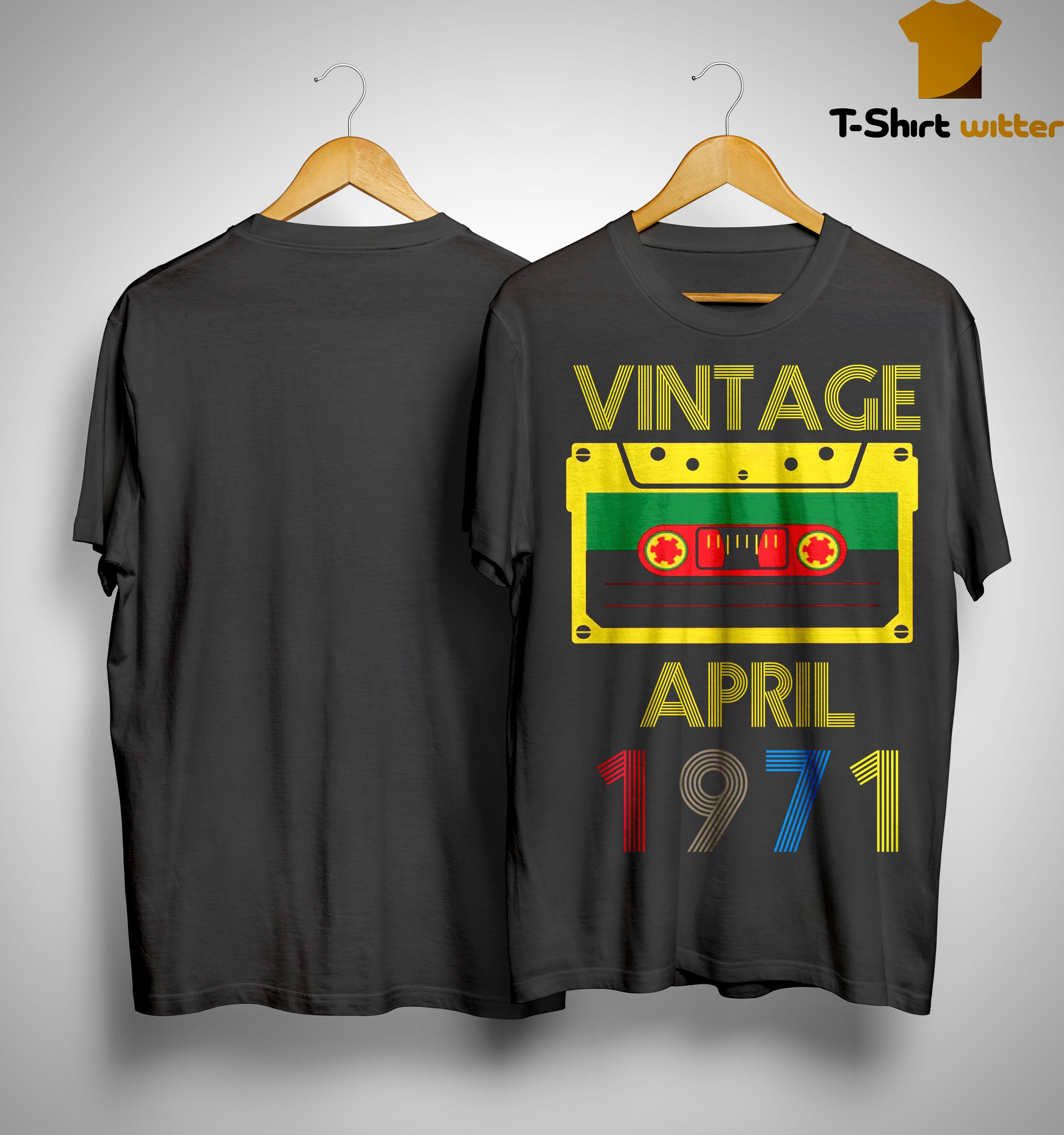 Video Tape Vintage April 1971 Shirt
