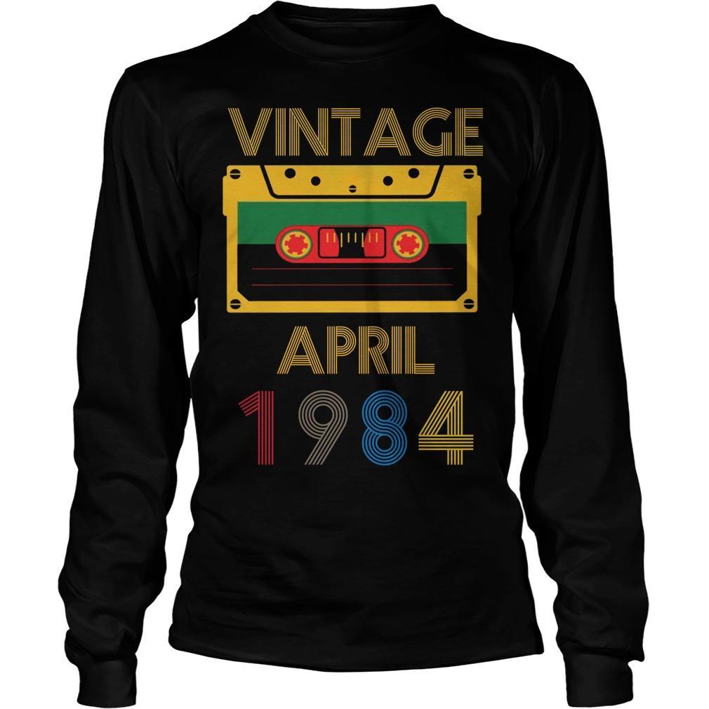 Video Tape Vintage April 1984 Longsleeve