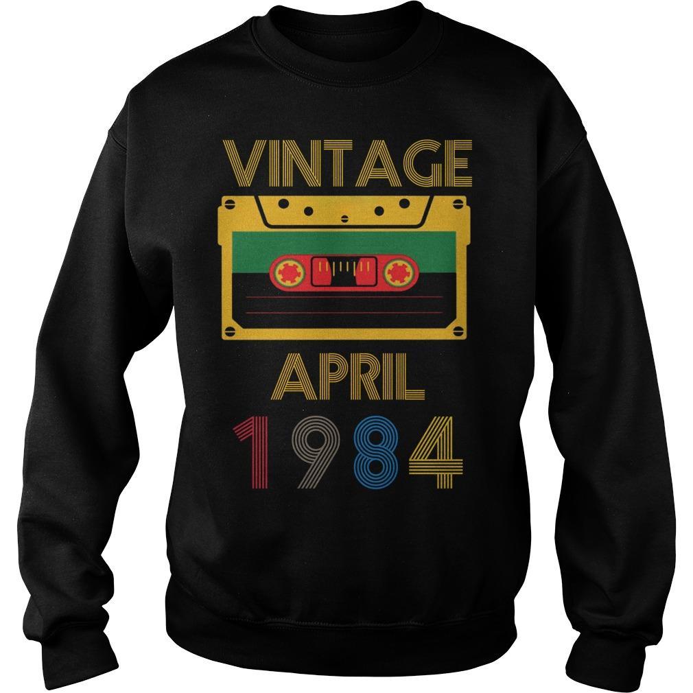 Video Tape Vintage April 1984 Sweater