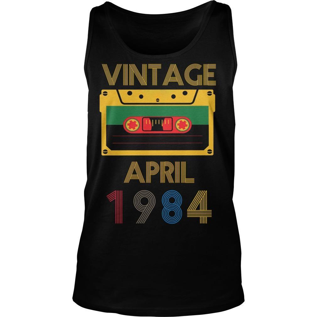 Video Tape Vintage April 1984 Tank Top