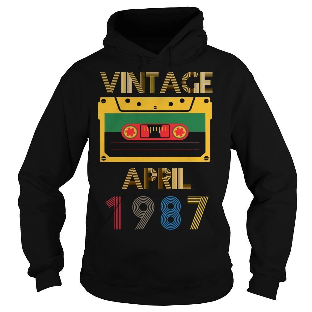Video Tape Vintage April 1987 Hoodie