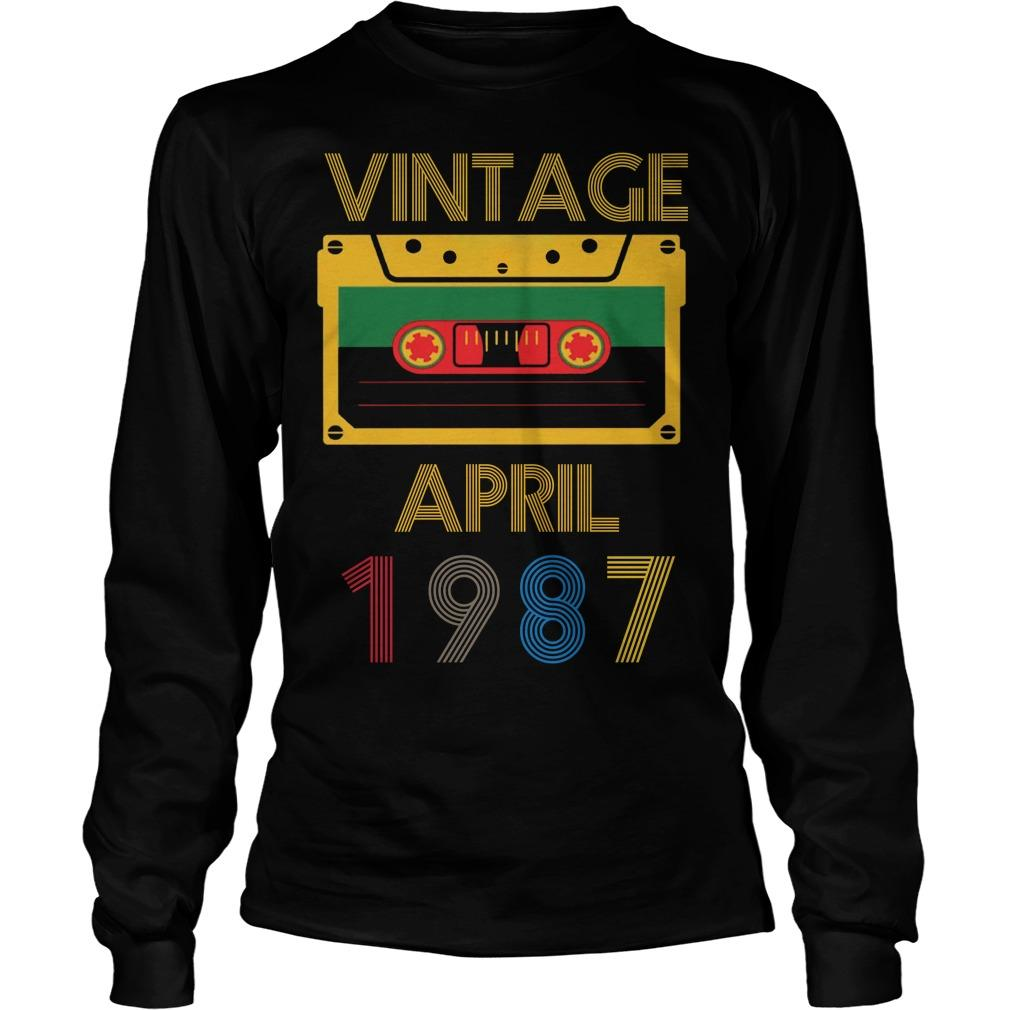 Video Tape Vintage April 1987 Longsleeve