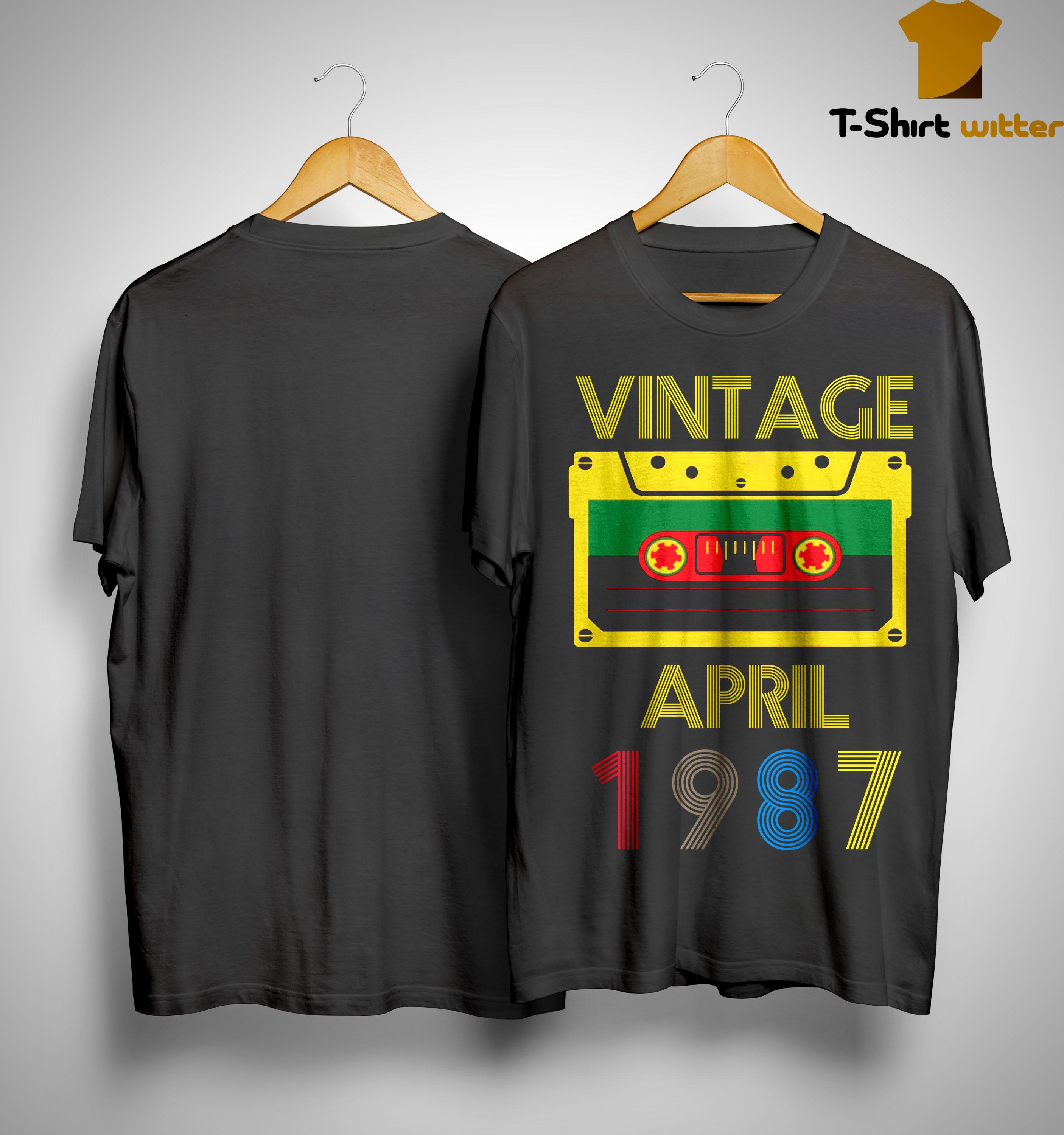 Video Tape Vintage April 1987 Shirt
