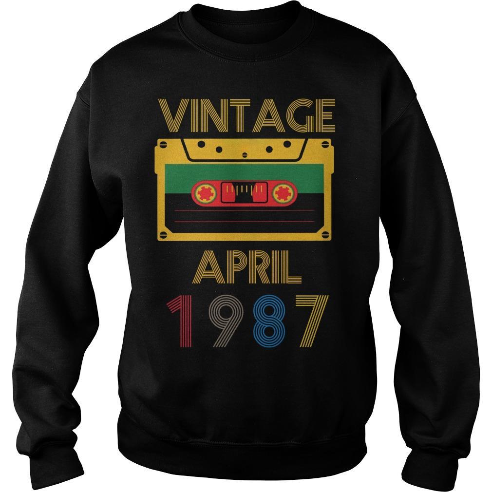 Video Tape Vintage April 1987 Sweater