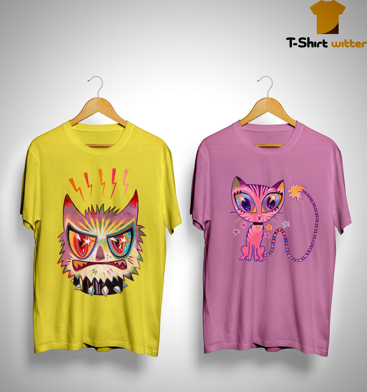 Maroon Racoon Cat Shirt