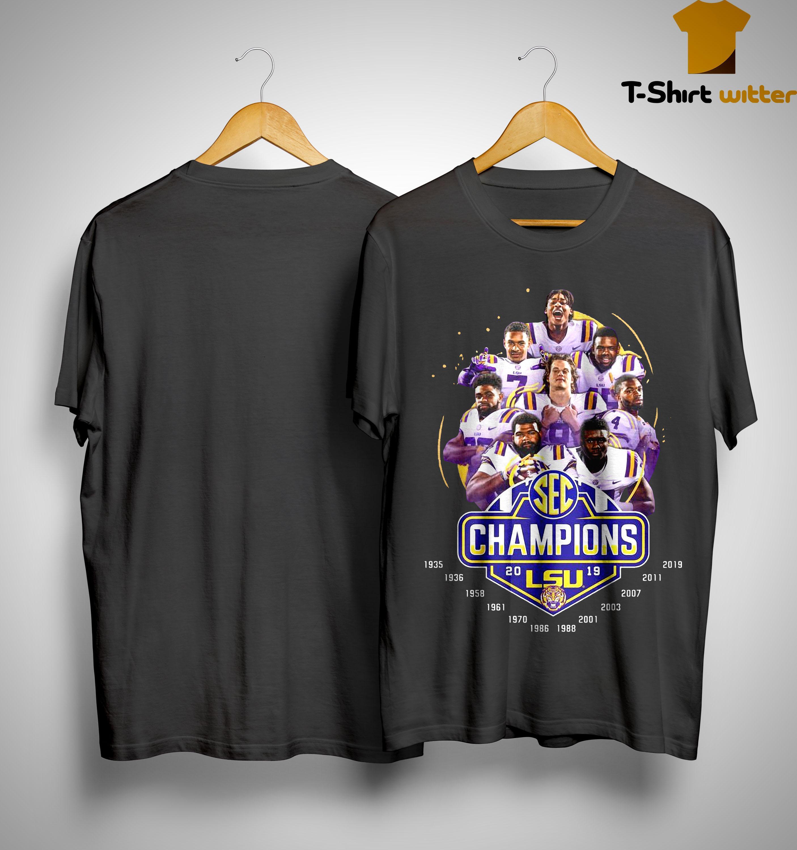 Sec Champions 2019 Lsu Tiger Shirt