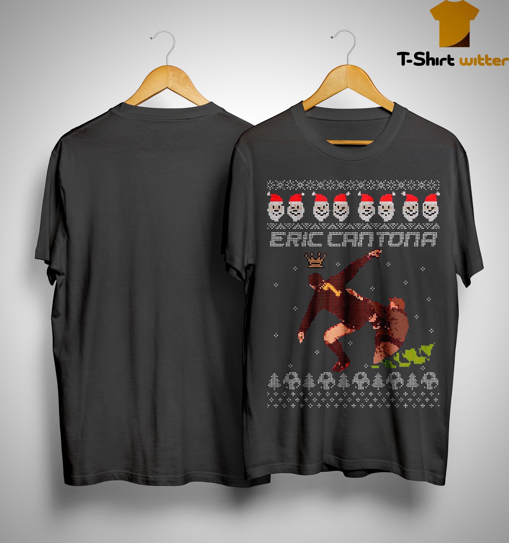 Ugly Christmas Kung Fu Eric Cantona Shirt