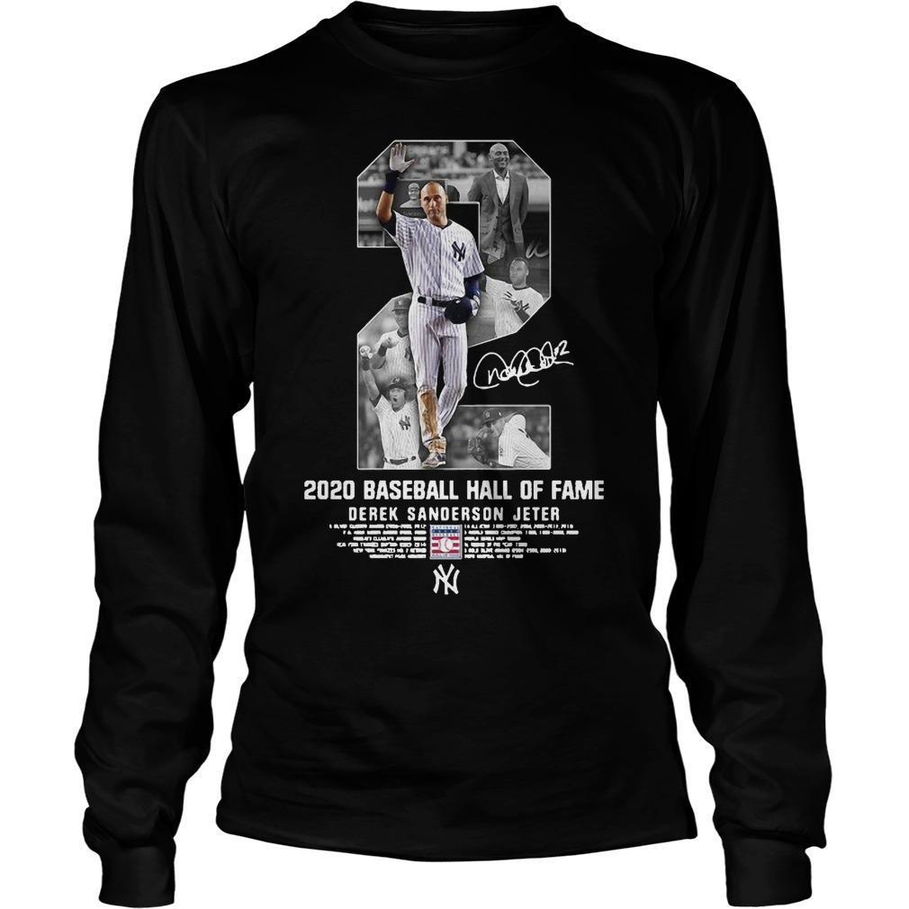 2 2020 Baseball Hall Of Fame Derek Sanderson Jeter Longsleeve