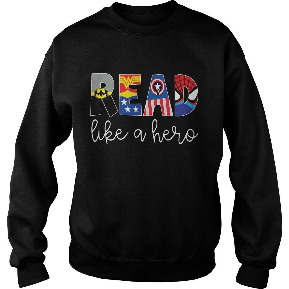 Avenger Read Like A Hero Sweater