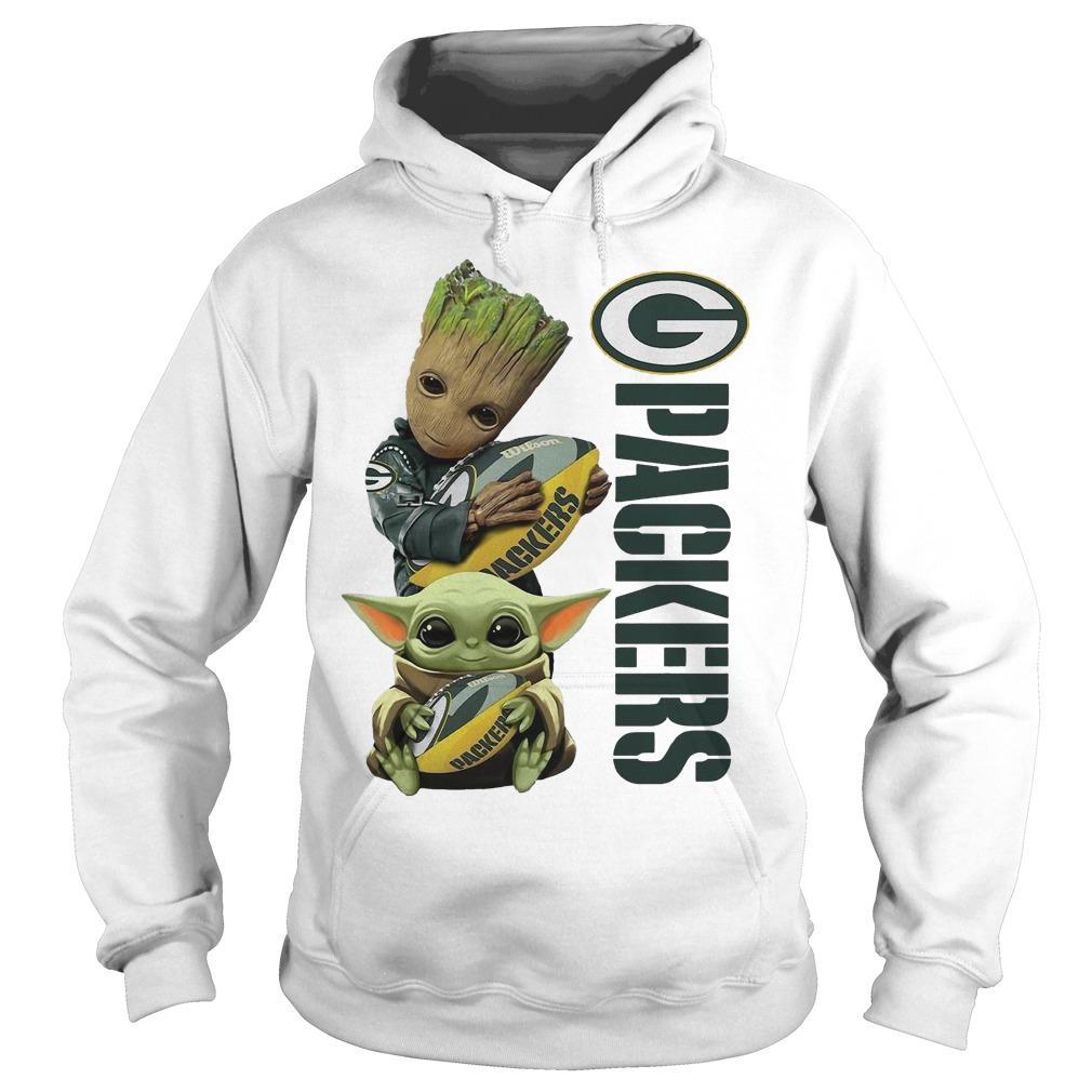 Baby Yoda And Groot Green Bay Packers Hoodie