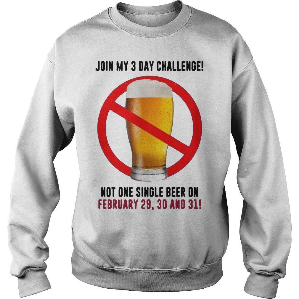 Beer Join My 3 Day Challenge Sweater