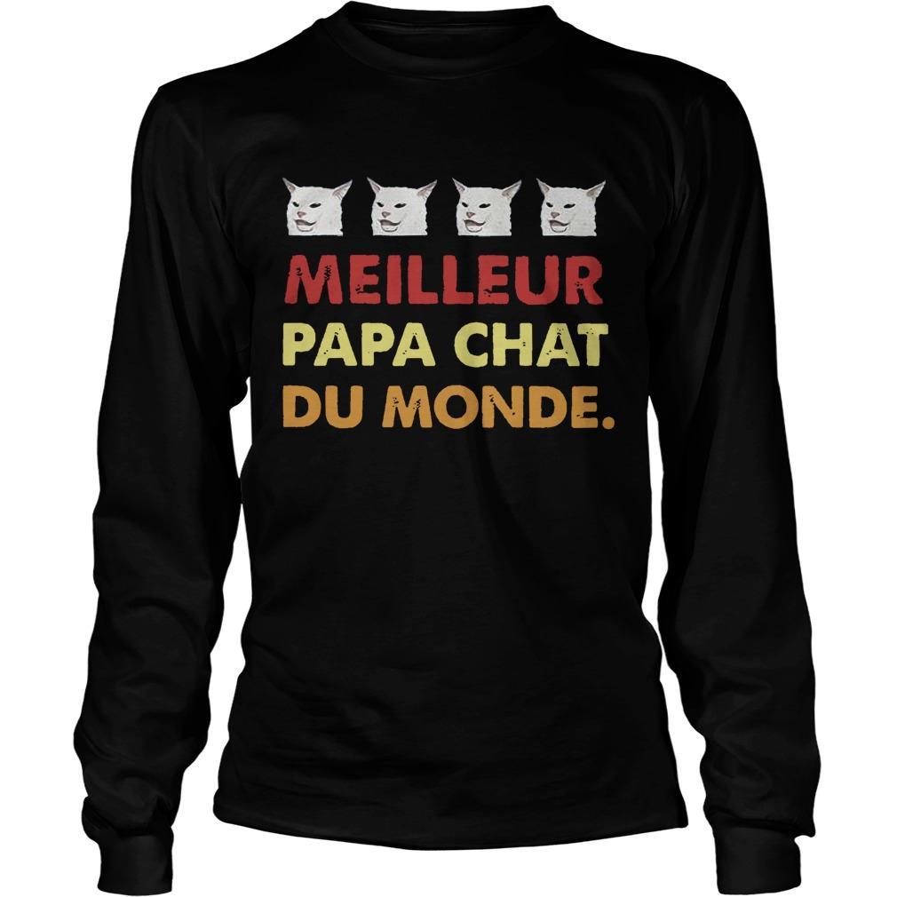 Cat Meilleure Papa Chat Du Monde Longsleeve