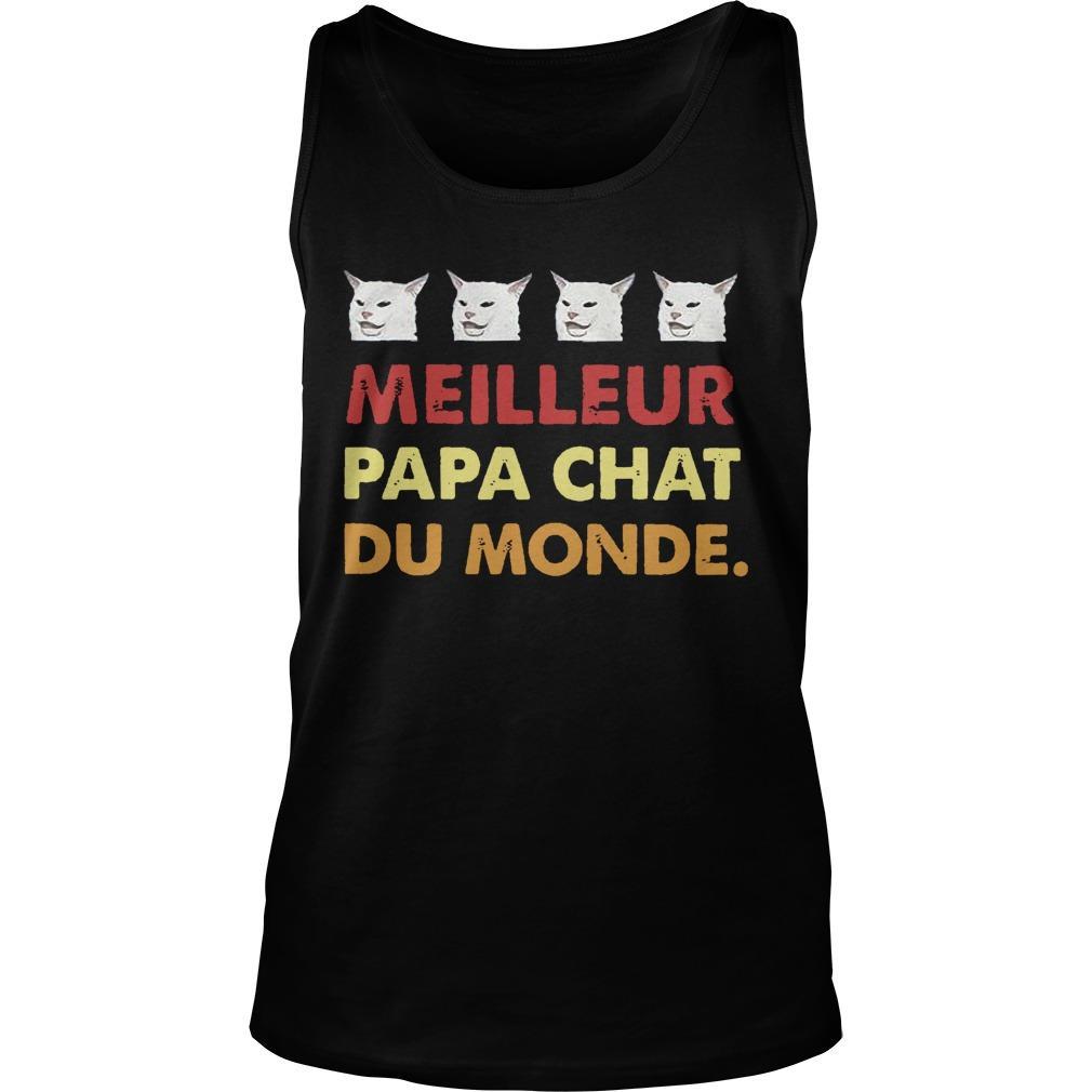 Cat Meilleure Papa Chat Du Monde Tank Top