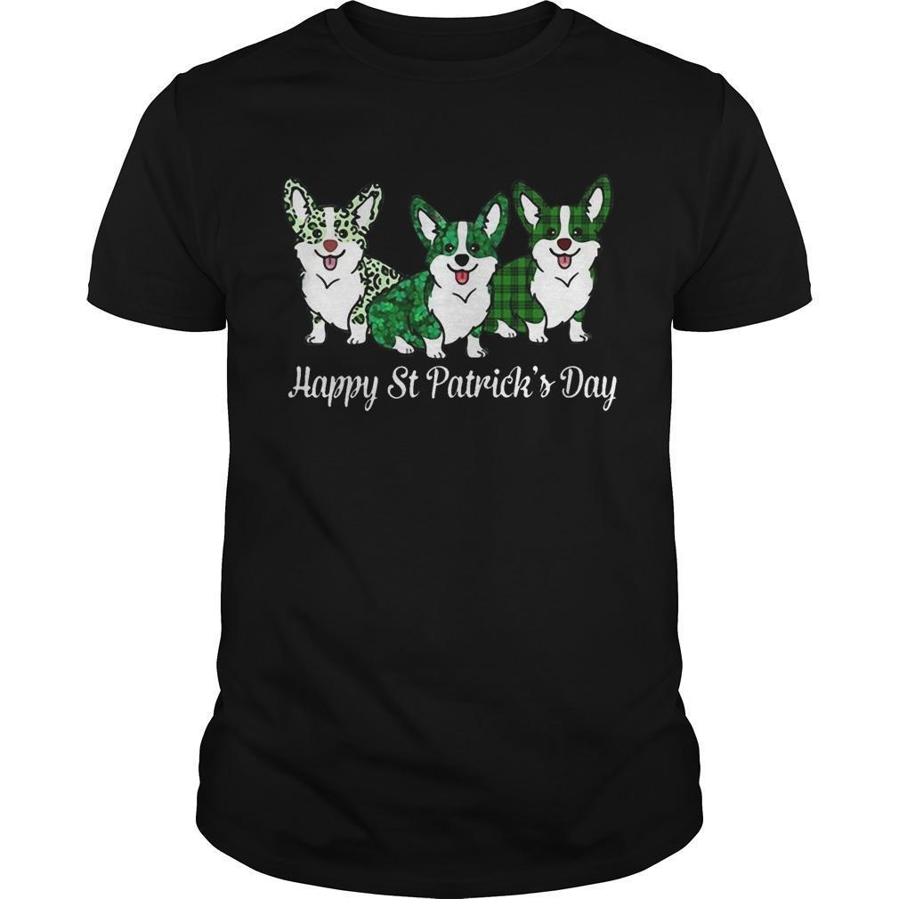 Corgi Happy St Patrick's Day Shirt