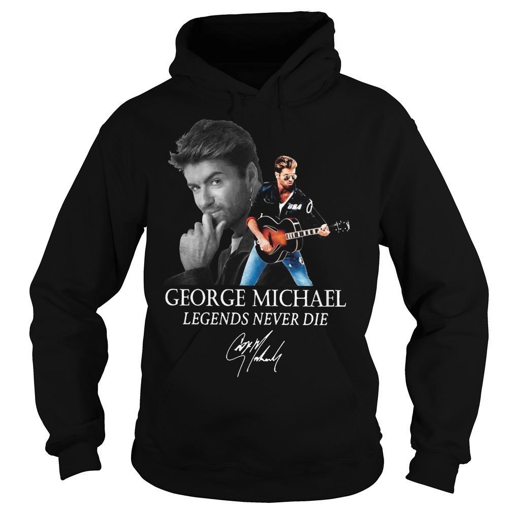 George Michael Legends Never Die Signature Hoodie