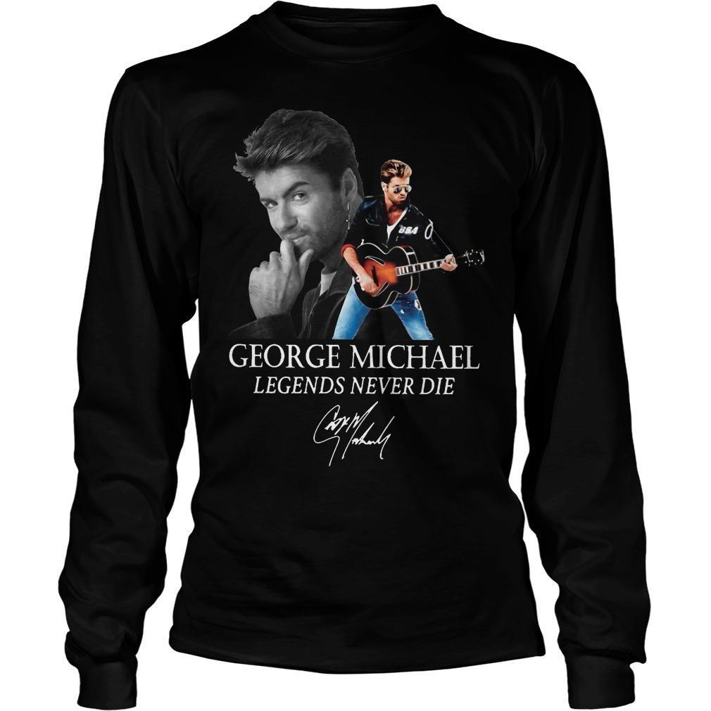 George Michael Legends Never Die Signature Longsleeve