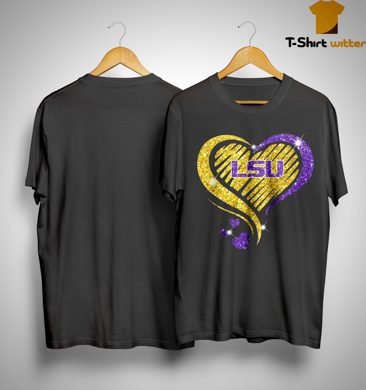 Heart Diamond Lsu Tigers Shirt