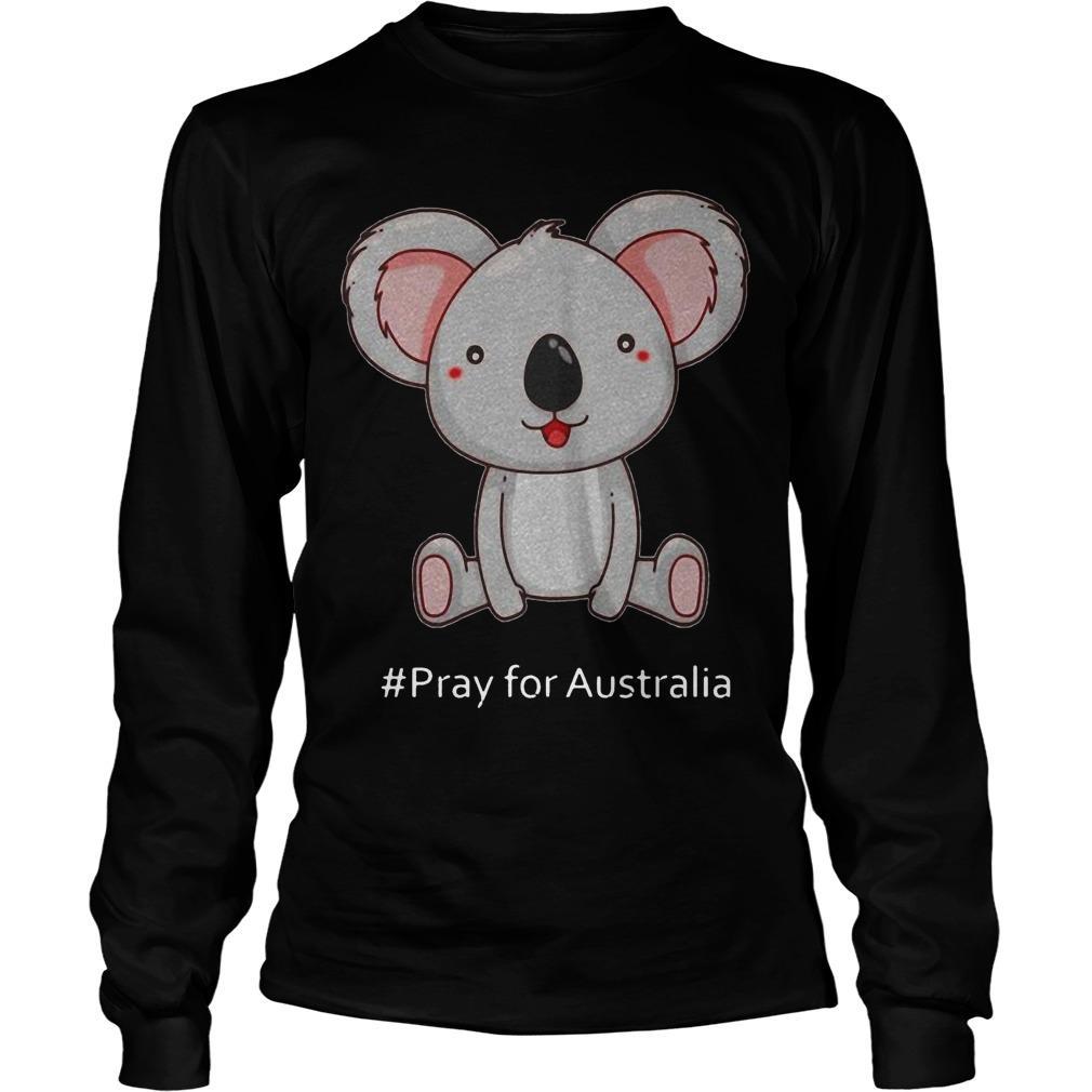 Koala #Pray For Australia Longsleeve