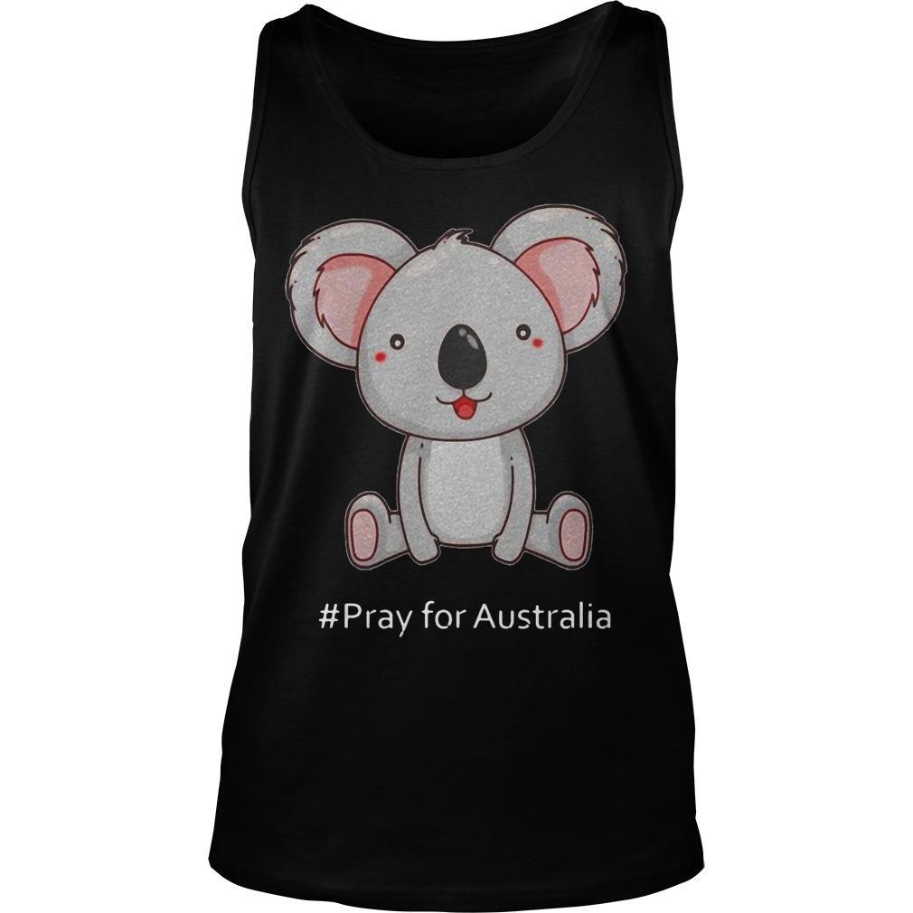 Koala #Pray For Australia Tank Top