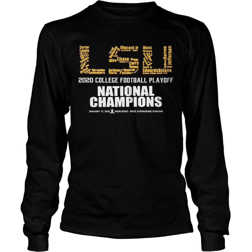 Lsu 2020 College Football Playoff National Champions Longsleeve