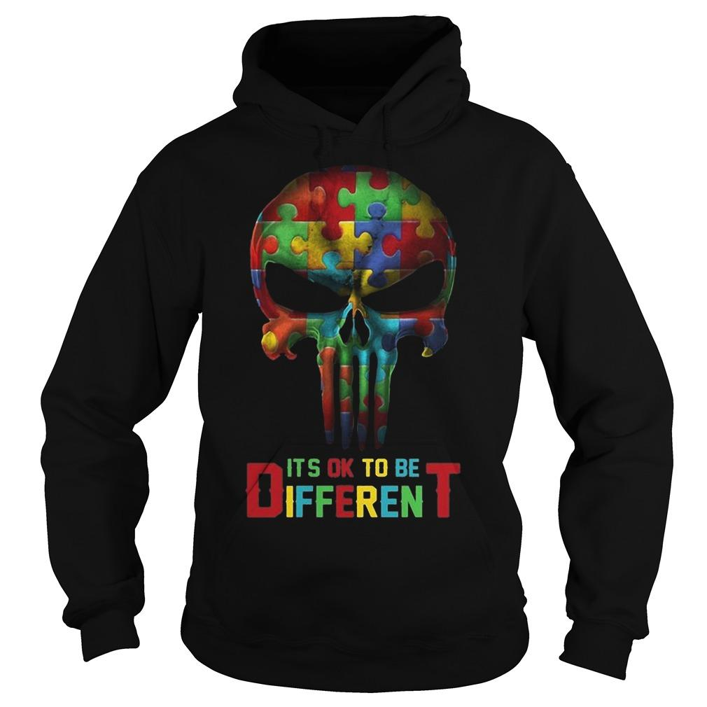 Punisher Skull Autism It's Ok To Be Different Hoodie