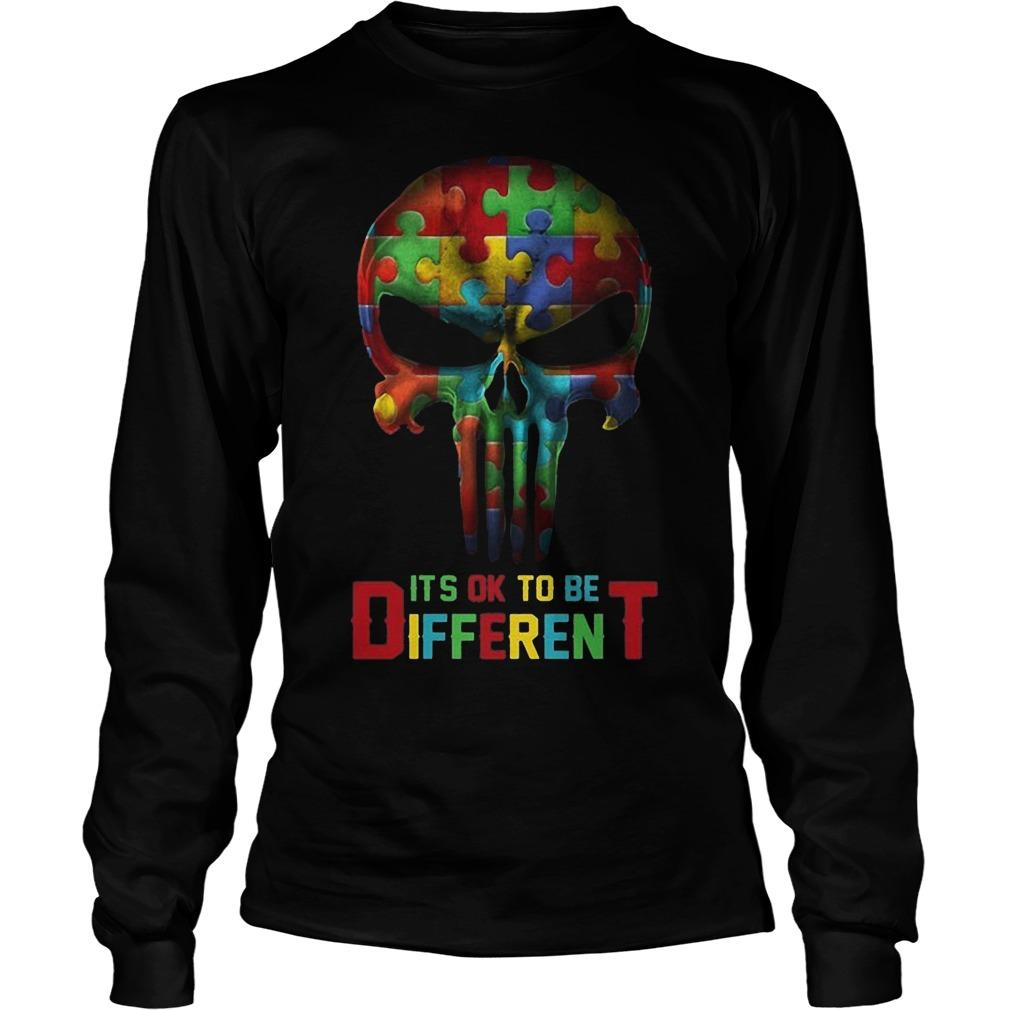 Punisher Skull Autism It's Ok To Be Different Longsleeve