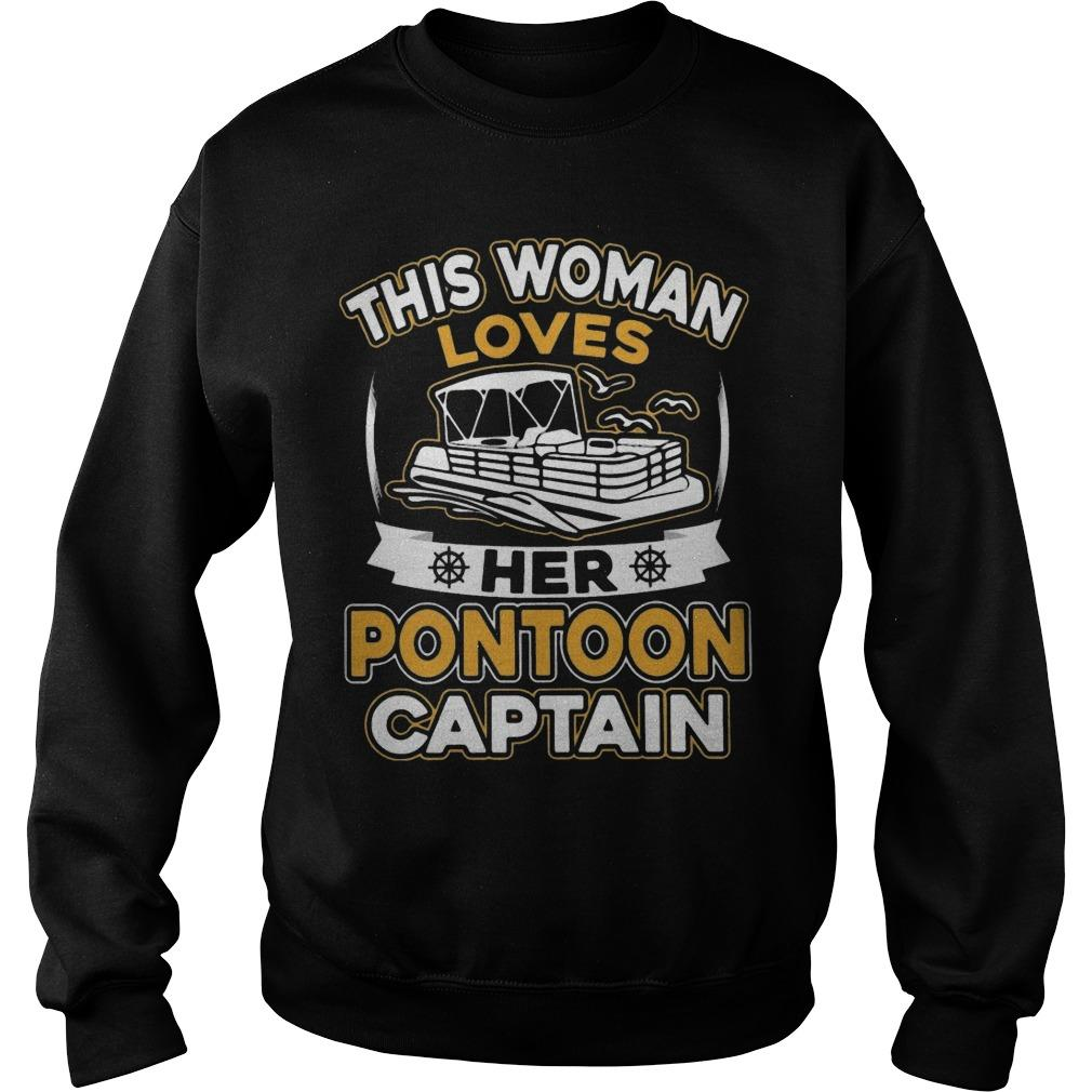 This Woman Loves Her Pontoon Captain Sweater