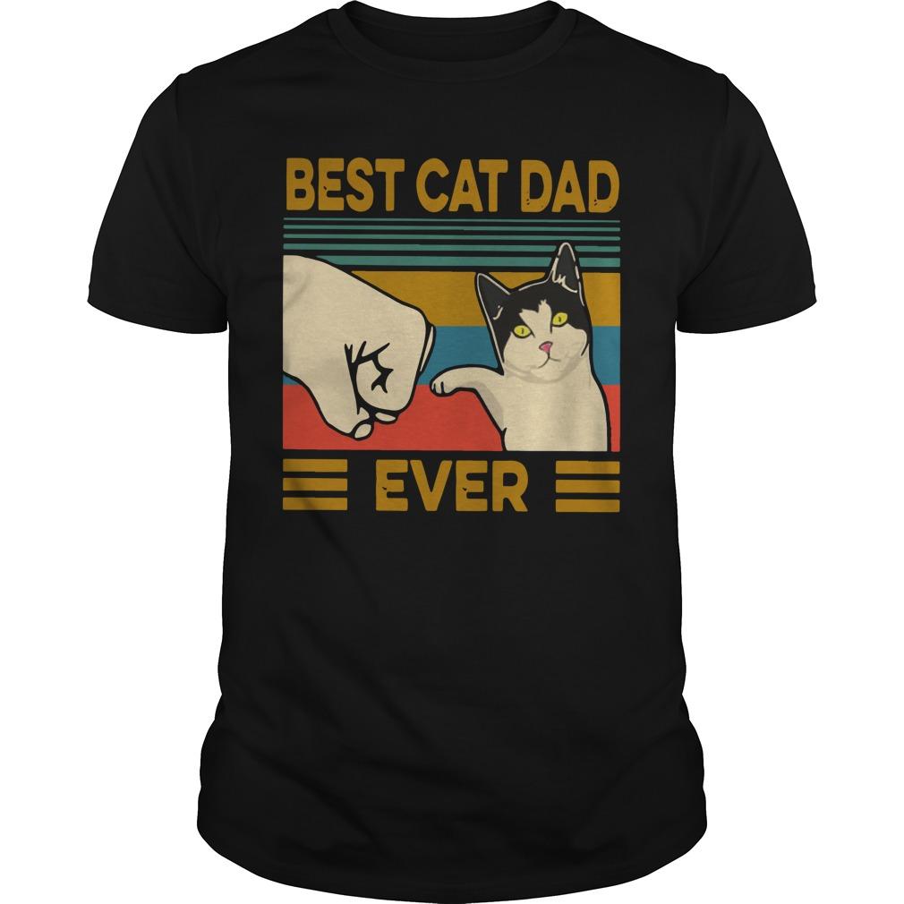 Vintage Best Cat Dad Ever Shirt