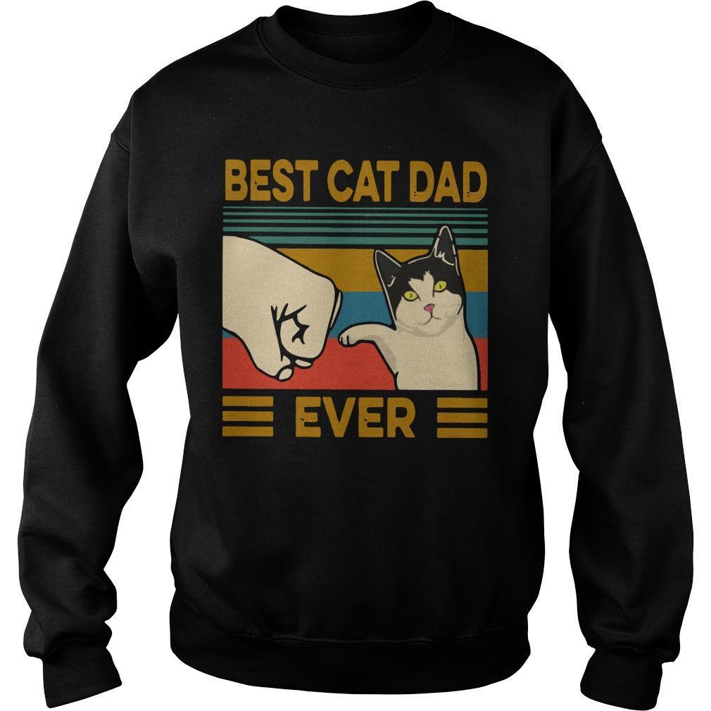 Vintage Best Cat Dad Ever Sweater