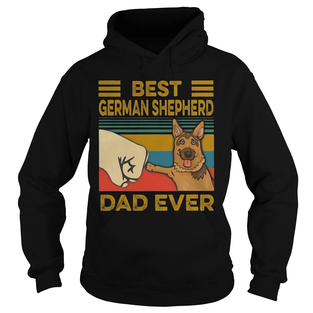 Vintage Best German Shepherd Dad Ever Hoodie