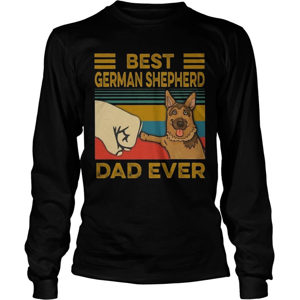 Vintage Best German Shepherd Dad Ever Longsleeve