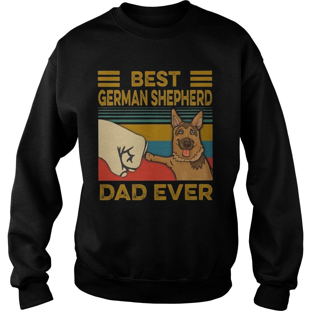 Vintage Best German Shepherd Dad Ever Sweater