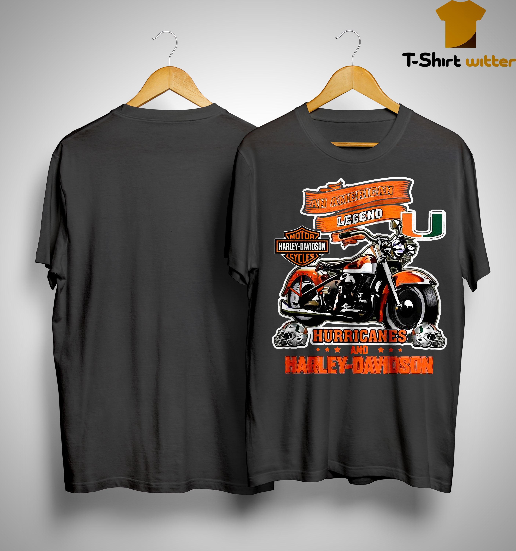 An American Legend Motor Harley Davidson Cycles Hurricane Shirt