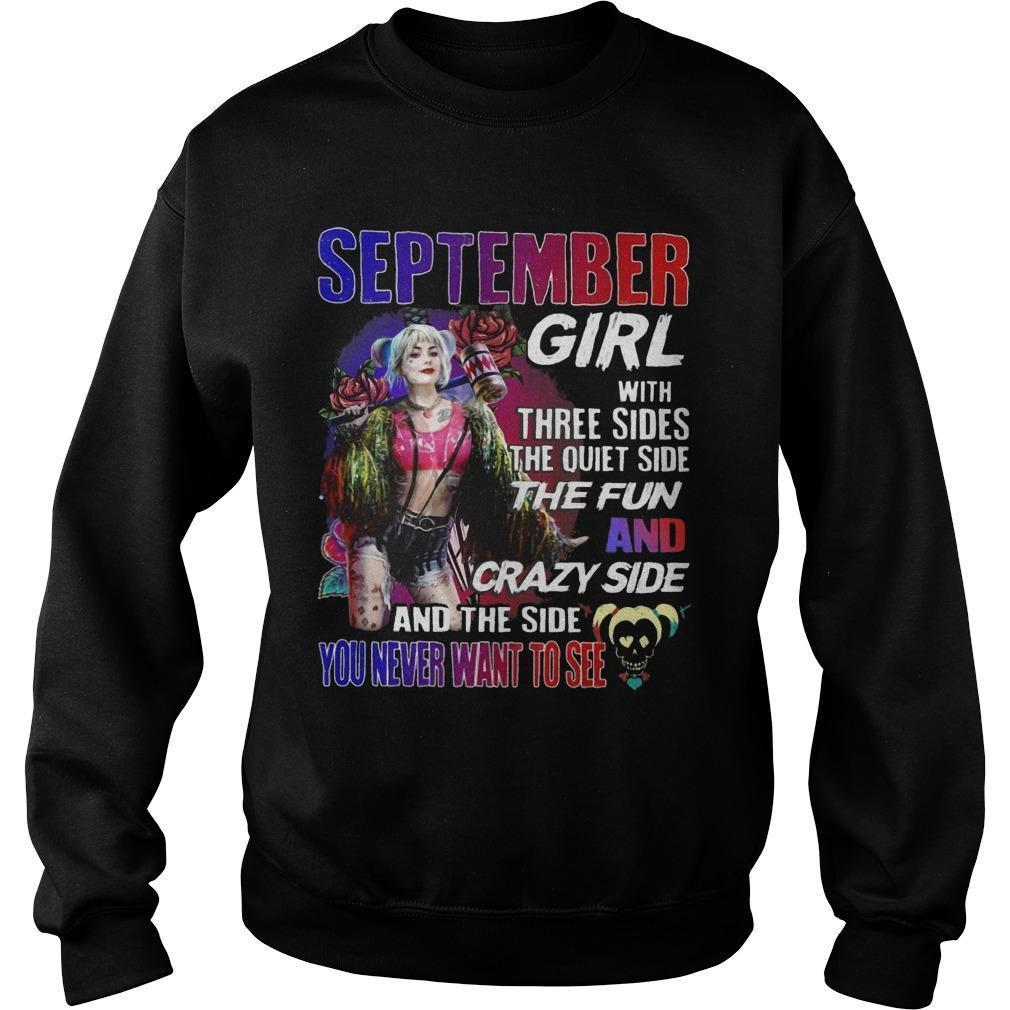 Bird Of Prey's Harley Quinn September Girl With Three Sides The Quiet Side The Fun Sweater