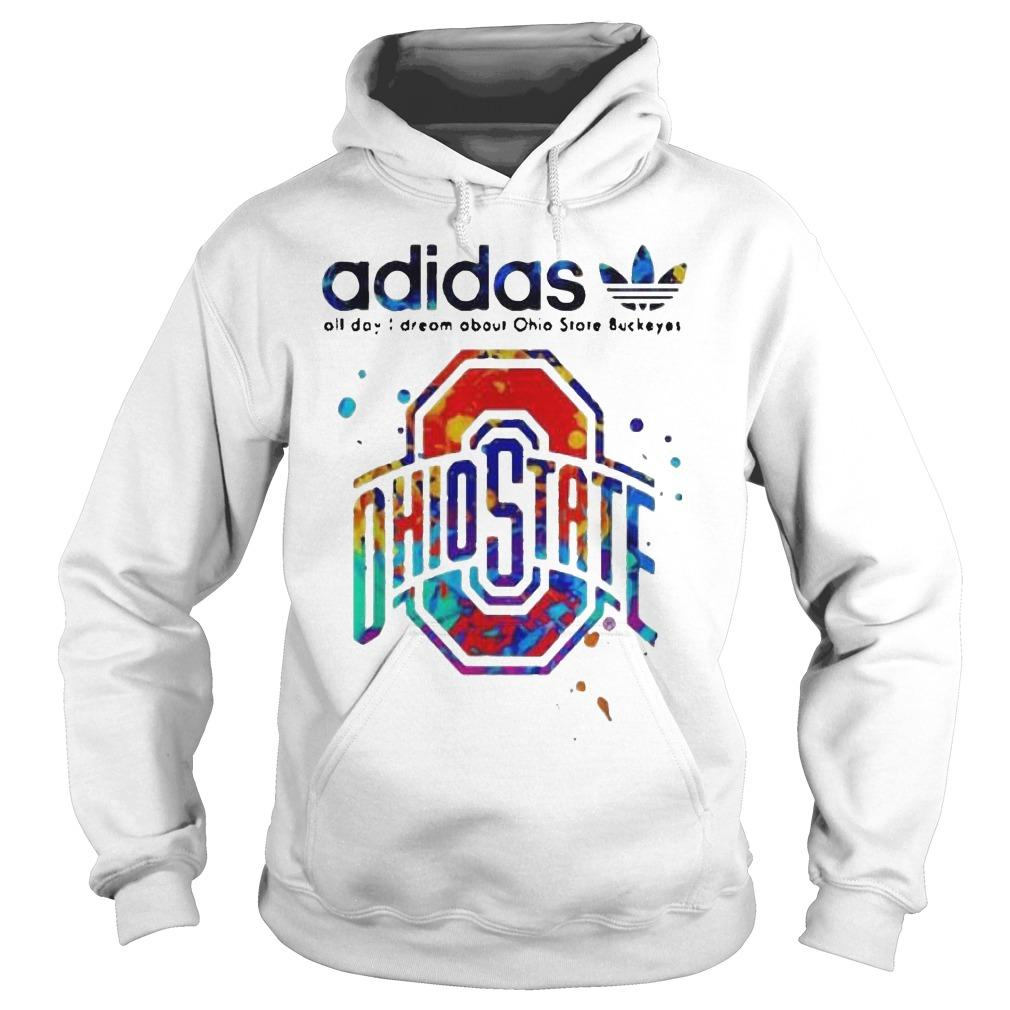 Colors Adidas All Day I Dream About Ohio State Buckeyes Hoodie