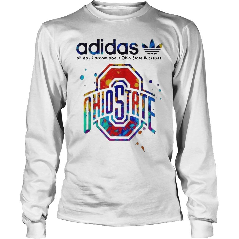 Colors Adidas All Day I Dream About Ohio State Buckeyes Longsleeve