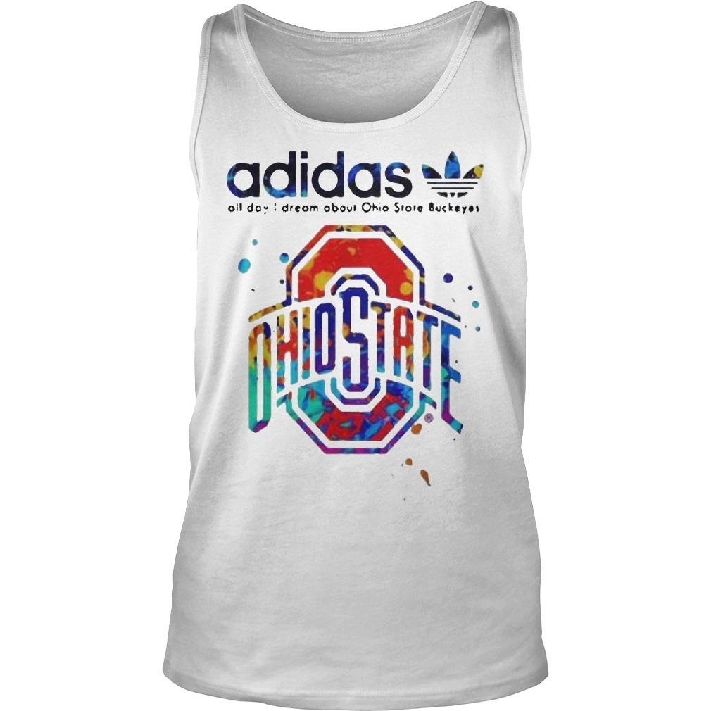 Colors Adidas All Day I Dream About Ohio State Buckeyes Tank Top