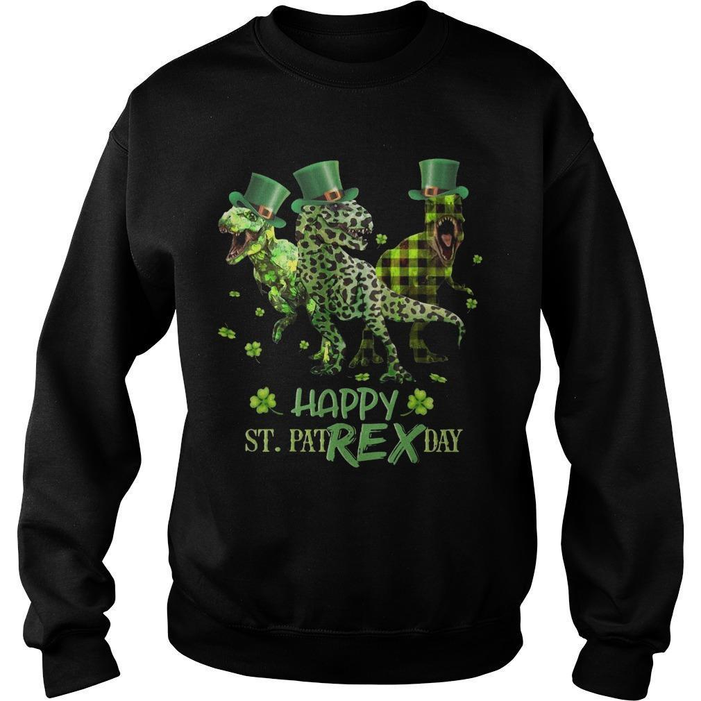 Dinosaur Happy St PatREX Sweater
