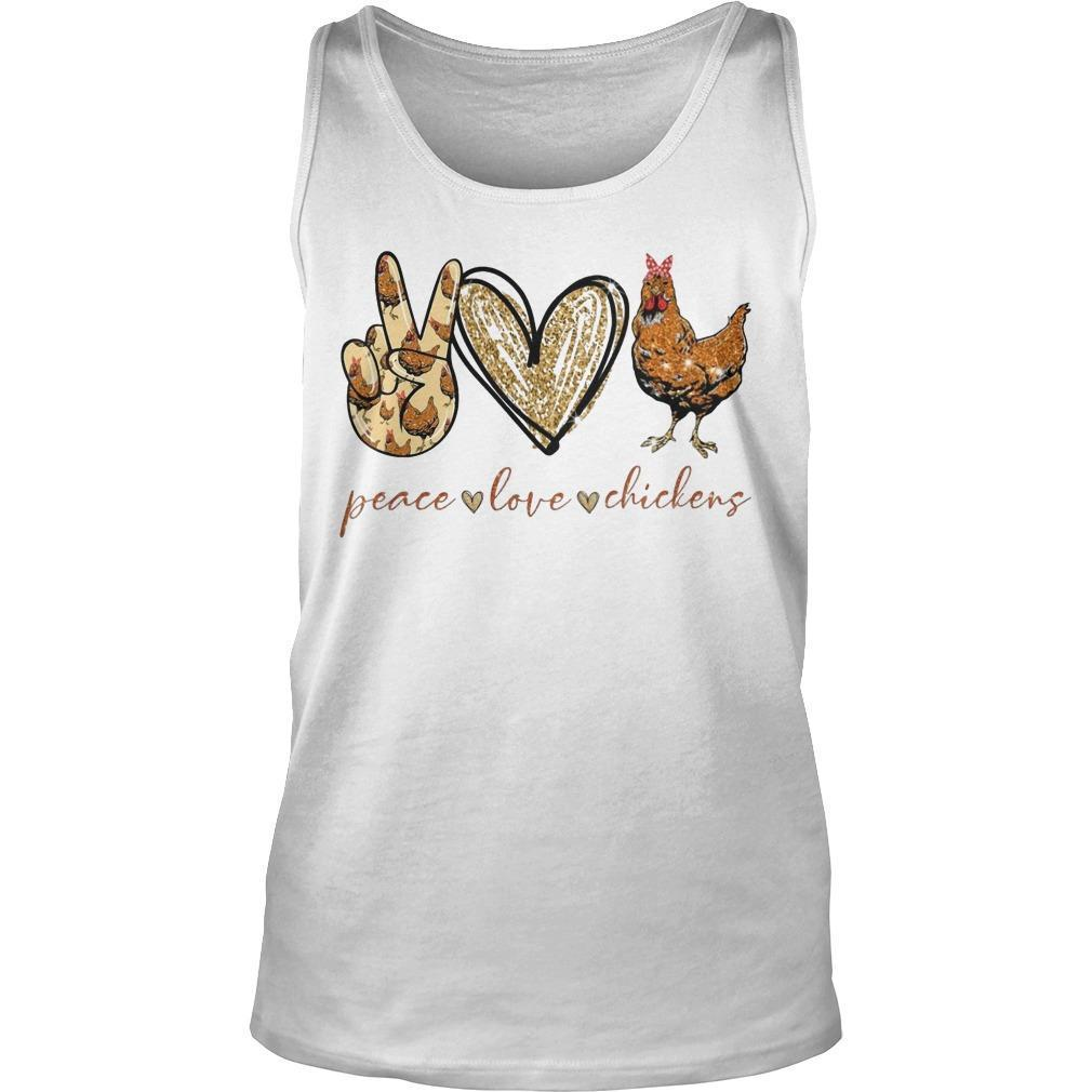 Peace Love And Chickens Tank Top